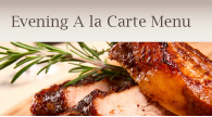 evening a la carte menu Bicester
